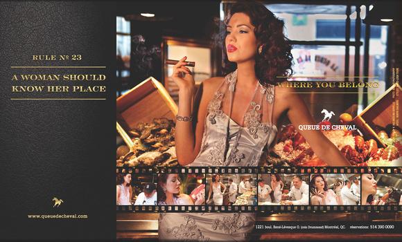 RSVP Magazine - Queue de cheval restaurant ad by Badger Photography