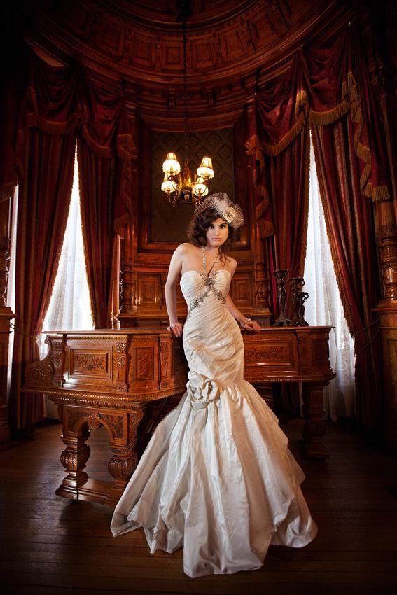 Elegant Wedding Fashion Editorial at Mount Stephen Club - by Badger Photography