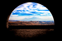 Mount Ararat from Arch of Charents, Armenia