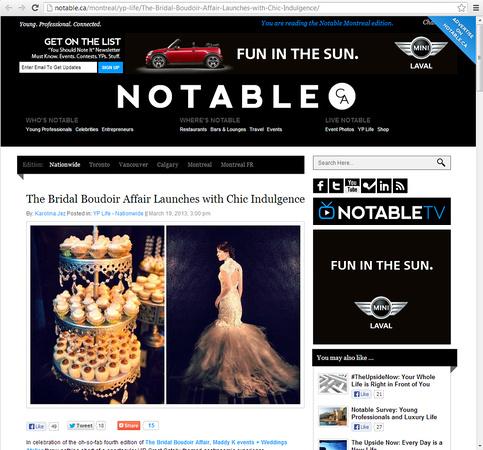 Notable.ca - Bridal Boudoir Affair 2013